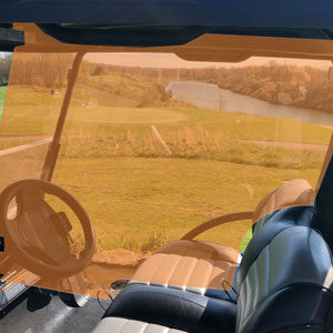 Golf cart side plex orange