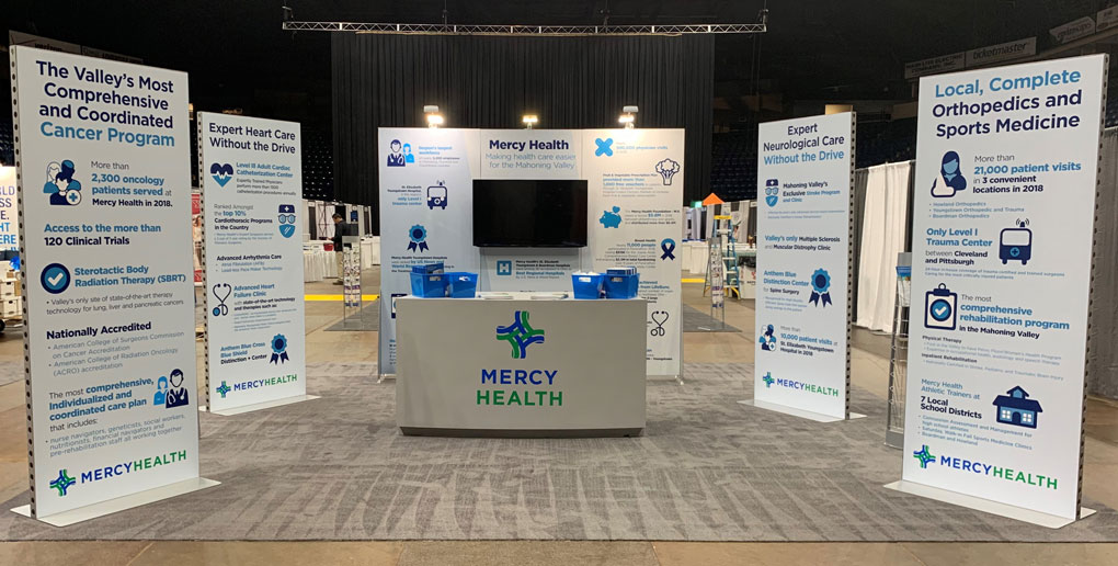 Mercy Health Exhibit and Banner Display