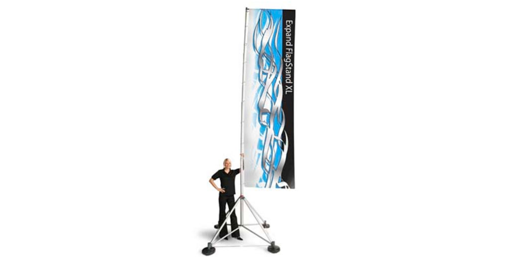 Outdoor Banner with Banner Stand