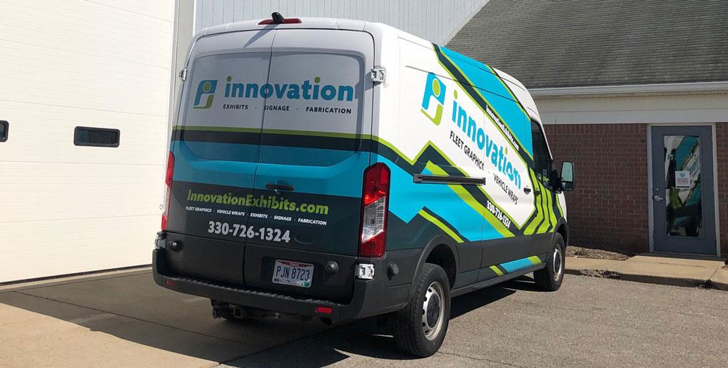 Innovation Exhibits Company Van Rear Vehicle Wrap