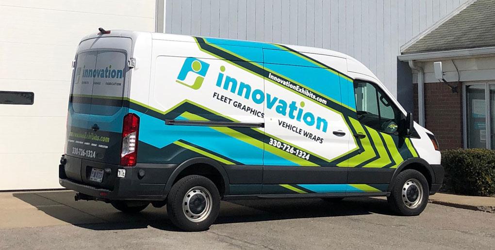 Innovation Exhibits Company Van Vehicle Wrap