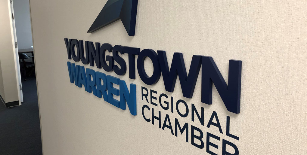 Youngstown Warren Regional Chamber Interior Wall Signage