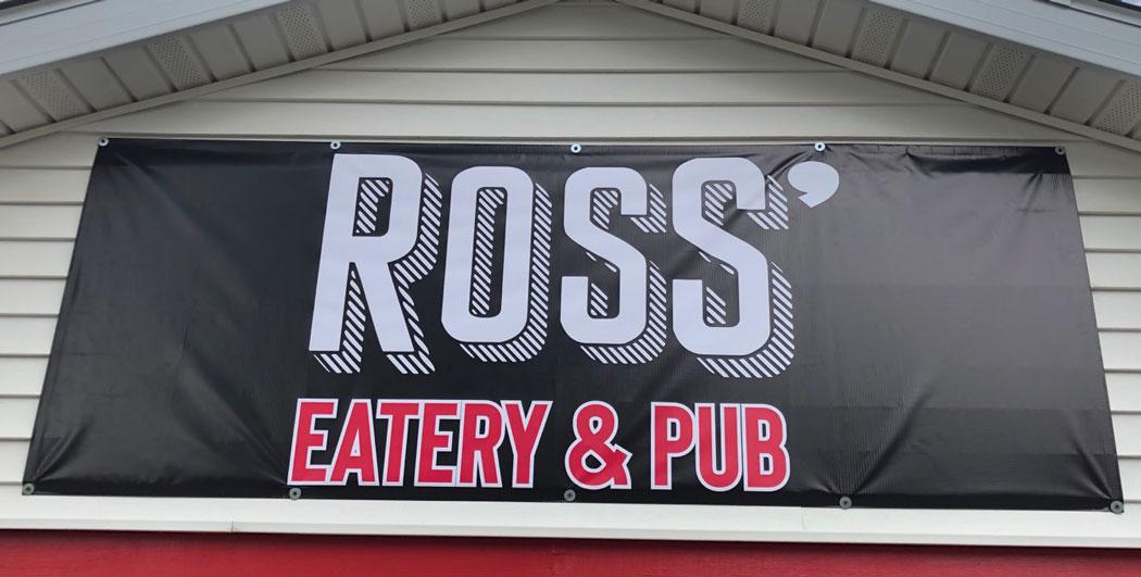 Ross' Outdoor Pub Vinyl Banner